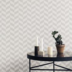 Behang Angle grijs van Ferm Living