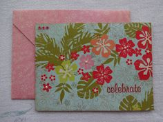 Hawaiian floral birthday card