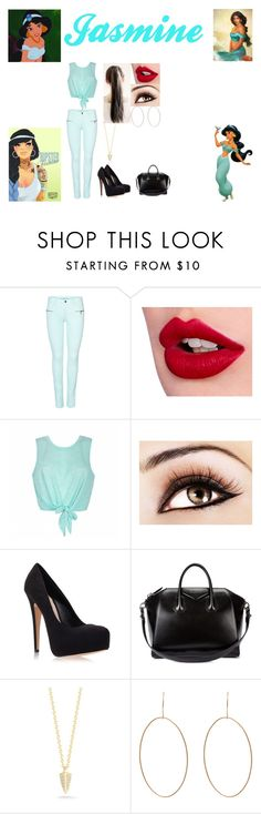 """Disney:Modern Jasmine"" by glee2shake ❤ liked on Polyvore featuring Disney, ONLY, Charlotte Tilbury, Ally Fashion, Blinc, Carvela Kurt Geiger, Givenchy, Elizabeth and James, Ginette NY and modern"