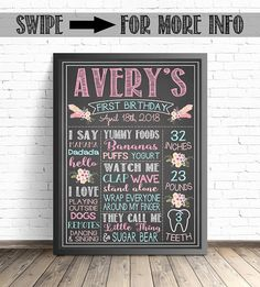 Boho Floral First Birthday Chalkboard Sign / Floral Party Decorations / Arrows and Feathers Decor / Boho Baby Birthday Decor / Boho Party