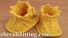 How to Crochet Baby Booties Tutorial 44 Part 2 of 2 Como hacer crochet zapatitos para baby  http://sheruknitting.com/sherufashion/crochet-and-knitting-clothes/item/765-how-to-crochet-booties-for-babies-tutorial-44-part-2-of-2.html In this crochet video tutorial we continue to crochet beautiful booties for baby.