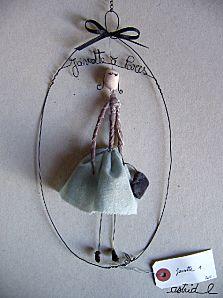 Drahtpüppchen, wire dolls