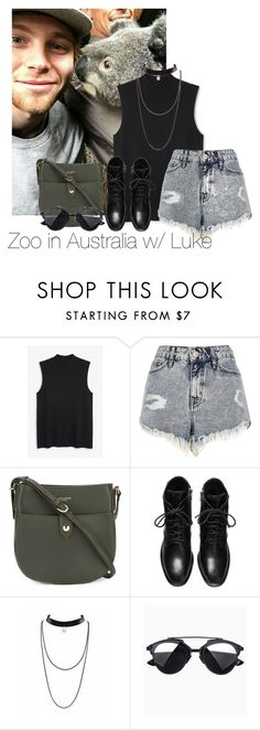 """Zoo in Australia w/ Luke"" by edna-loves-1d ❤ liked on Polyvore featuring Monki, River Island and Nina Ricci"