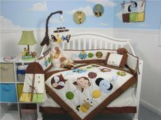 SoHo Forest Buddy Baby Crib Nursery Bedding Set 13 pcs... only $69... a little more affordable and still very cute!