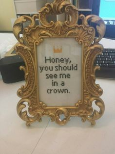 "Moriarty ""Honey, You Should See Me in a Crown"" Sherlock Cross Stitch crossstitch quote"