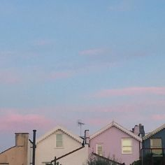Whisked candy floss sky