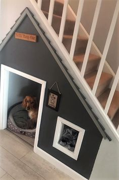 Under Stairs Dog House, Under Stairs Nook, Under Stairs Cupboard, Entrance Hall Decor, Dog Room Decor, Dog Bedroom, Puppy Room, Dog Spaces, Hallway Inspiration