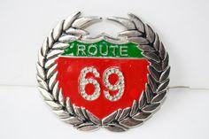 cinturón hebilla ruta 69 por Limbhad en Etsy