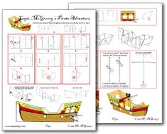 1000 images about party pirates on pinterest pirate for Cardboard pirate ship template