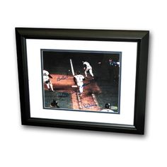 Bill Buckner/Mookie Wilson Dual Signed 8X10 Framed Photo of The Famous 1986 World Series Game 6 Play.