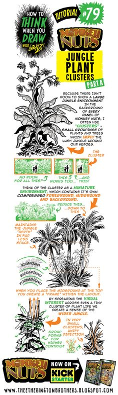 The Etherington Brothers: How to THINK when you draw MONKEY NUTS JUNGLE PLANT CLUSTERS tutorial