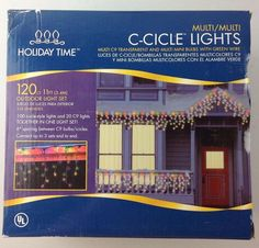 Holiday Time Outdoor 120 Multi-Color Mini Christmas LED Icicle Lights 11FT Long  #Holidaytime