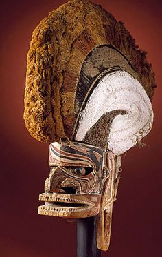 Malagan Mask. New Ireland, South Pacific. Natural materials. In New Ireland, off the NE coast of New Guinea, the dead are remembered through these magnificent Malagan masks. During the colonial era they were collected by European administrators and can be seen in museums all over the world.