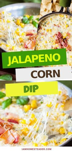 The best holiday dip recipe, this Jalapeno Corn Dip is sweet and spicy! This creamy and delicious di Christmas Recipes Dinner Main Courses, Easy Holiday Recipes, Easy Dinner Recipes, Easy Meals, Vegan Recipes Beginner, Healthy Recipes On A Budget, Vegan Meal Prep, Vegetarian Recipes Dinner, Healthy Appetizers