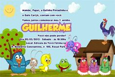 Convite da Galinha Pintadinha – Convite Infantil