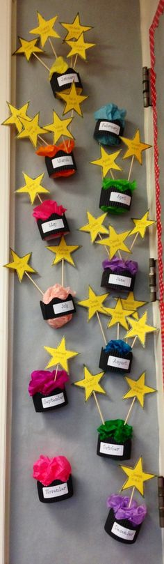 Birthday cupcakes classroom chart :)...thinking classes and marking behavior?