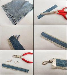 Les p'tites créa' par Caro Dels - Blog créatif, DIY: DIY : Le bracelet en jean