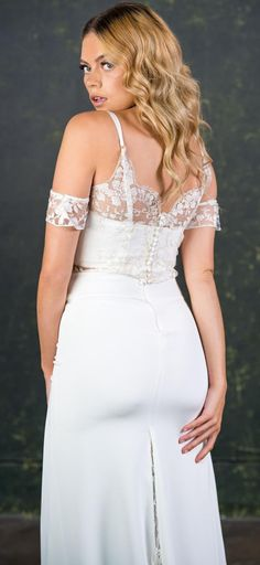 Introducing the first dress-less bridal collection offering brides & bridesmaids a range of luxury jumpsuits, playsuits and two pieces all handmade in England. Bridal Skirts, Wedding Skirt, Bridal Jumpsuit, Alternative Wedding Dresses, Bridal Separates, Brides And Bridesmaids, Silk Crepe, Bridal Lace, Bridal Collection