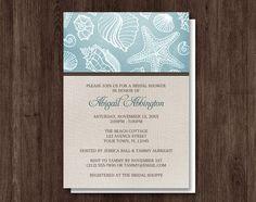Rustic Beach Linen Bridal Shower Invitations – Artistically Invited