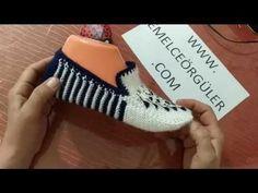 2 Şiş İle Damlacıklı Patik Modeli - YouTube