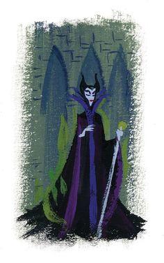 Maleficent by Lorelay Bove Sleeping Beauty Art, Sleeping Beauty Maleficent, Disney Concept Art, Disney Fan Art, Disney Disney, Disney Stuff, Disney Sketches, Disney Drawings, Maleficent Art
