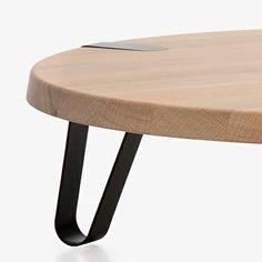 Ø 90 cm Oak Table - Black - alt_image_one