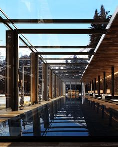 Take a dip in the lap pool, part of the stunning, state-of-the-art 25,800-square-foot spa. #Switzerland