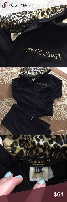 Roberto Cavalli  track suit Good condition, says L but its actually fits like M Roberto Cavalli Pants Track Pants & Joggers