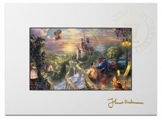 Beauty and the Beast Falling in Love – Matted Print