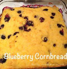 Blueberry Cornbread Recipe via @Lora Hogan (Daily Southern Sunshine)
