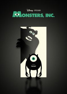Cut out Mike and Sully from black posterboard for halloween window silhouettes.