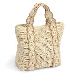 52 Awesome Easy Crochet Tops For This Summer 2019 - Page 15 Free Crochet Bag, Crochet Tote, Crochet Handbags, Crochet Purses, Filet Crochet, Knit Crochet, Diy Sac, Mode Boho, Knitted Bags