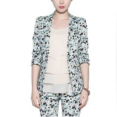 Aliexpress.com : Buy Fashion 2013 Autumn Coats for Women Casual Style three quarter sleeve Printed Floral Blazer slim Jacket suit  from Reliable printed sheet suppliers on Rose Town. $26.77