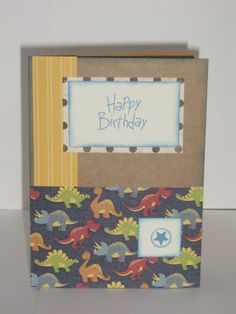 Little boy birthday card with dinosaurs on Etsy only $2.95!!
