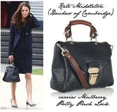 Love this fabulous Mulberry bag on Kate Middleton (Duchess of Cambridge)
