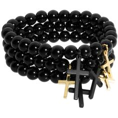 Pieces Kors Shop Set Of Three Bracelets ($19) ❤ liked on Polyvore