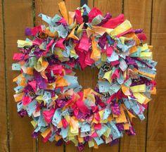 Bright Summer Fabric Wreath