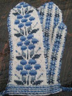 Knit Mittens, Mitten Gloves, Fair Isle Knitting Patterns, Knit Crochet, Blanket, Villa, Color, Style, Tejidos