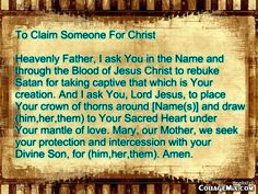 To Claim Someone For Christ