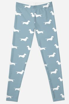 Wire Haired Dachshund Silhouettes Pattern Leggings