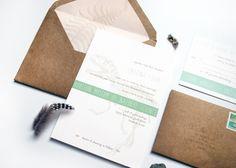 summer science museum wedding invitations