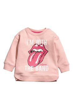 Sweatshirt with Printed Design | Powder pink | KIDS | H&M US