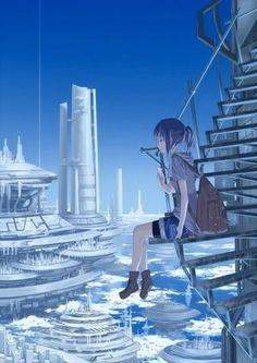 Image about art in Anime by Flillykee on We Heart It Art Anime Fille, Anime Art Girl, Manga Anime, Manga Art, Wallpaper Animes, Animes Wallpapers, Anime Style, Fantasy Kunst, Fantasy Art