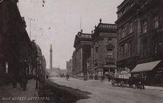 A postcard of Grey Street Newcastle upon Tyne taken Local Studies, Georgian Architecture, Postcard Printing, Royal Design, Metro Station, Horse Drawn, Street Look, Newcastle, England