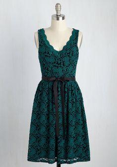 Hamptons of Fun Lace Dress in Teal, #ModCloth
