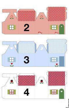 Подборка шаблонов-домиков, из которых получаются прекрасные упаковки для подарка - Декор своими руками