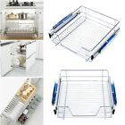 3 Pull Out Kitchen Storage Basket Rack Kitchen Wire Mesh Cabinet Organiser 600mm | eBay Pull Out Kitchen Storage, Larder Storage, Cupboard Storage, Storage Baskets, Food Storage, Sliding Door Mechanism, Sliding Doors, Cupboard Drawers, Kitchen Drawers