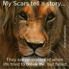Everyone's scars tell a story...