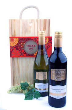 The perfect way to express your appreciation. Thank You Wine Duo! Gifts Delivered, Wine Rack, Appreciation, Champagne, Drinks, Bottle, Drinking, Beverages, Flask