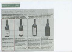 New Zealand reds and our Trinity Hill Syrah comes up trumps in the recent Sunday Times piece by @Wine Republic Wine Republic